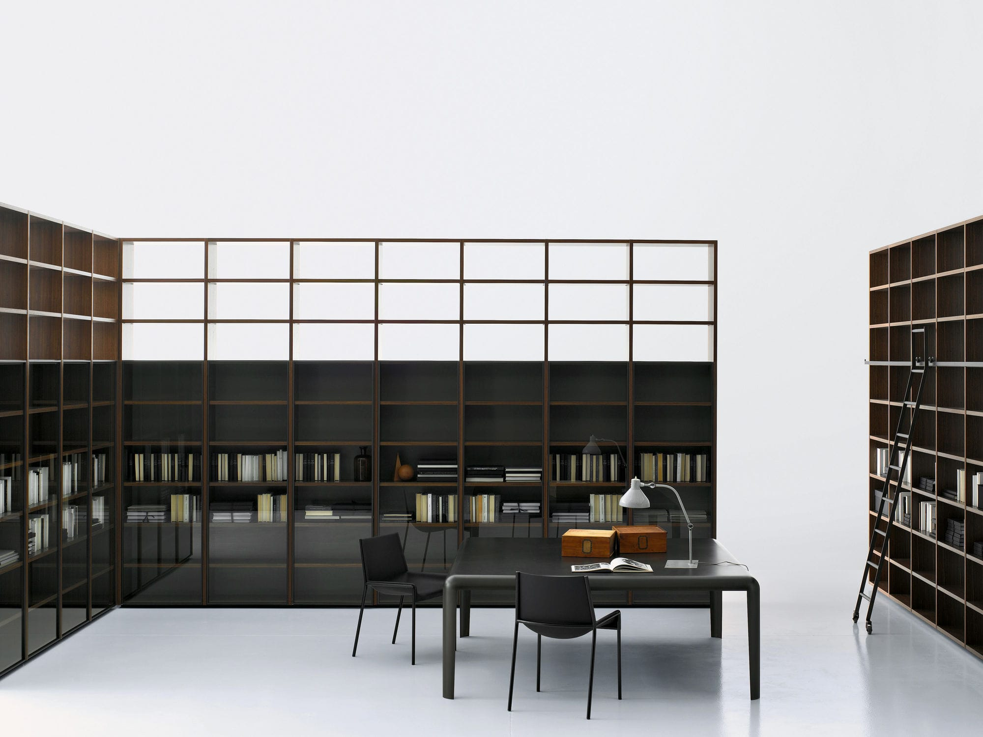 ... Modernes Regal / Holz / Von Piero Lissoni SYSTEM VETRINA Porro ...