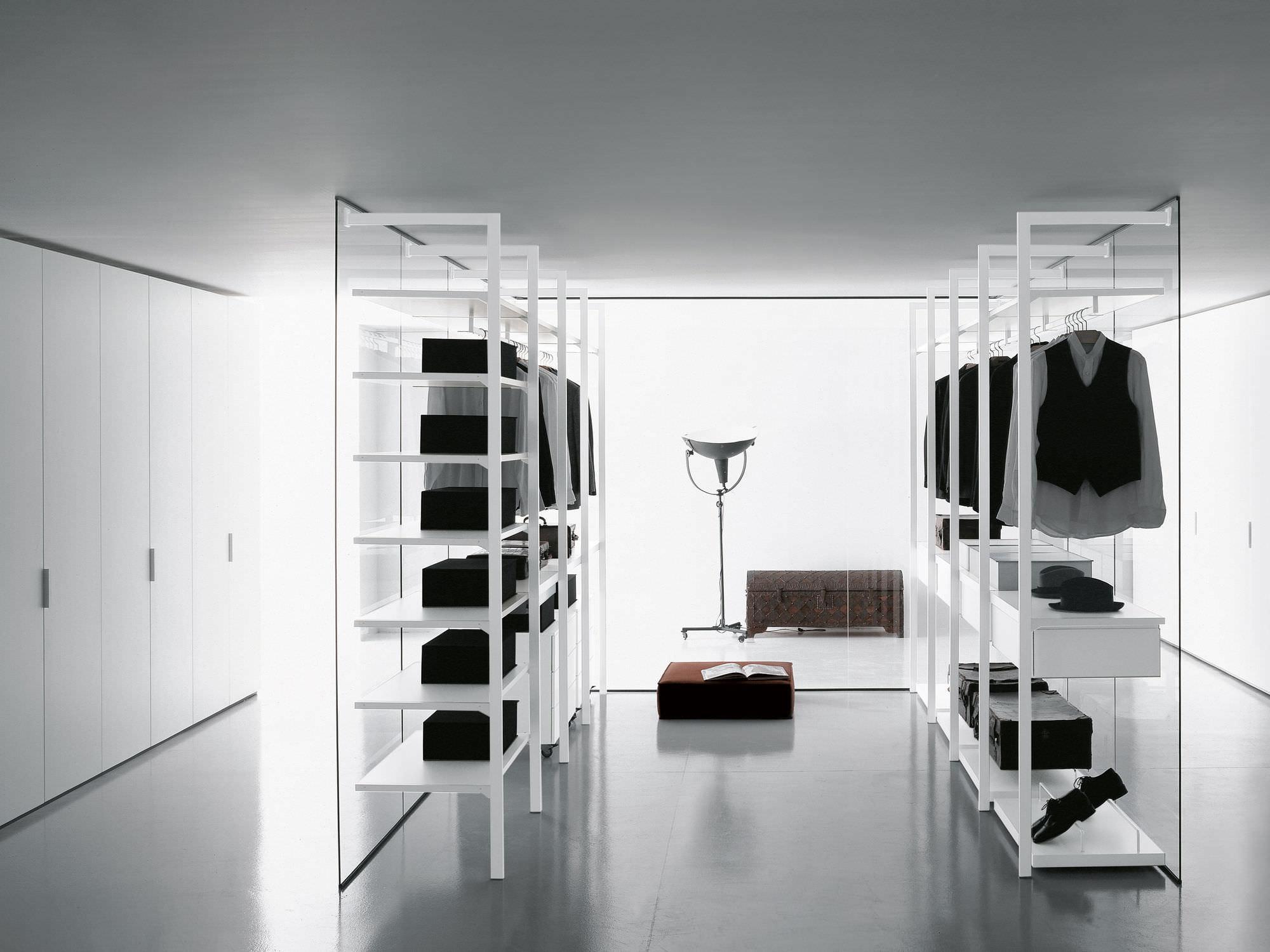 Moderner Begehbarer -Kleiderschrank / Holz / nach Maß / High-End - Porro