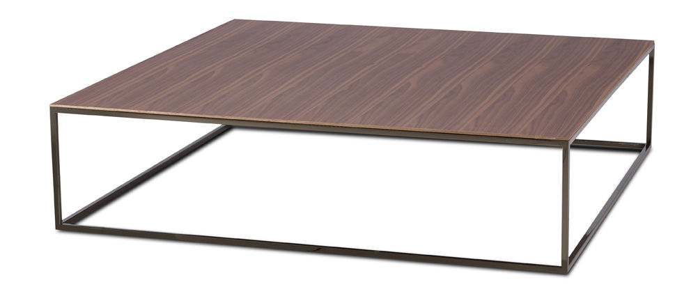 Moderner Couchtisch Holz Stahl Verchromtes Metall Ascot Jr