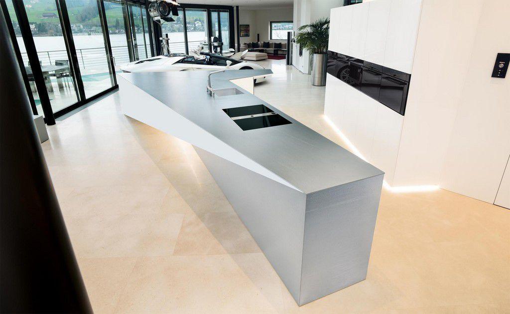 Küche Mit Edelstahl Arbeitsplatte küche mit edelstahl arbeitsplatte ocaccept com