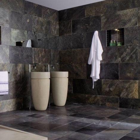 Innenraum-Fliesen / für Badezimmer / für Wände / Schiefer - DELHI ...