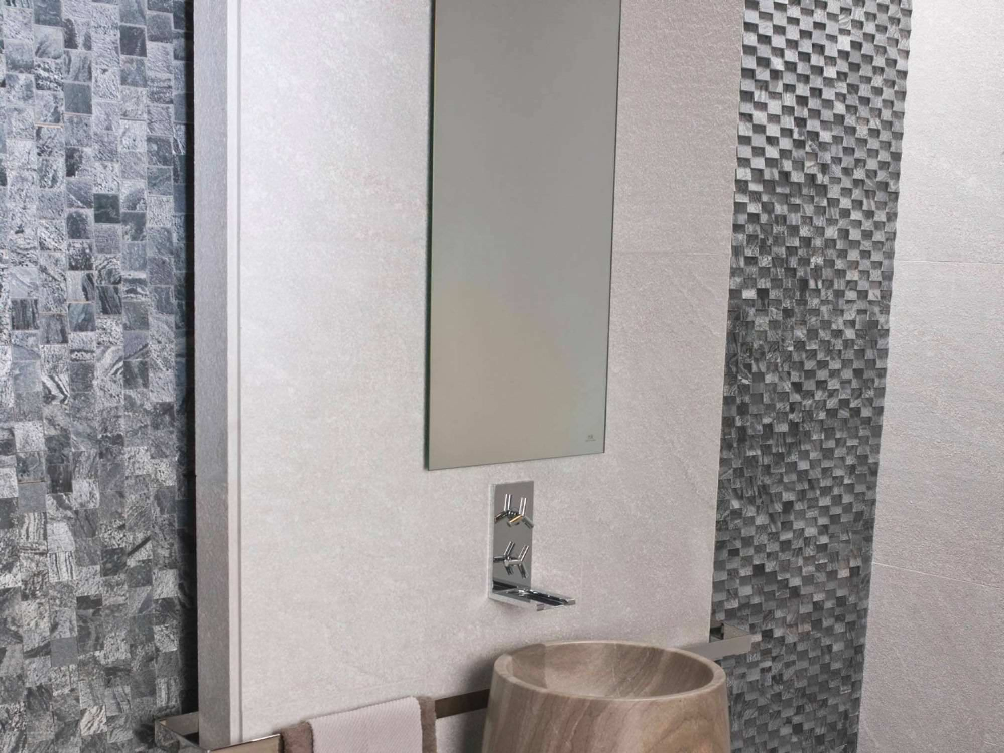Innenbereich Fliesen / Für Badezimmer / Für Wände / Quarzit   CHENNAI WHITE  FLAMED HOME