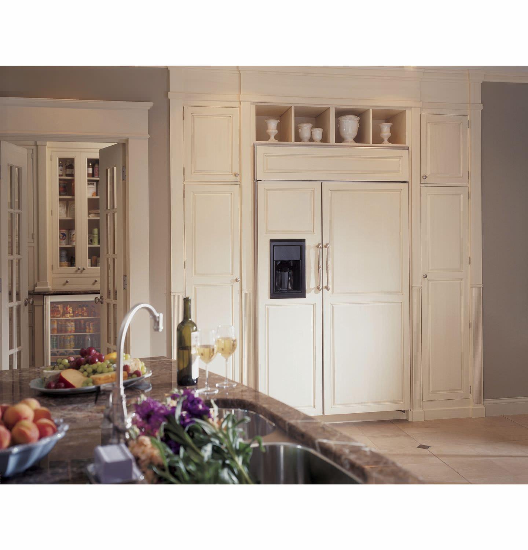 Amerikanisch Kühlschrank Weiß öko Einbau Zisb480dx Monogram