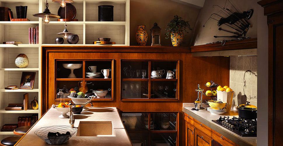 Klassische Küche / Massivholz / U-Rohr - ANTIQUA - L\'OTTOCENTO