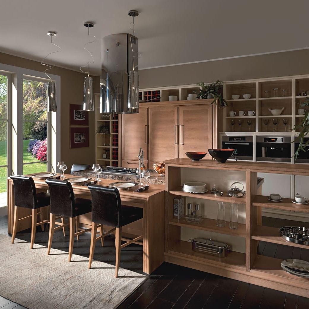 Moderne Küche / Holz / Holzfurnier / Massivholz   EVITA
