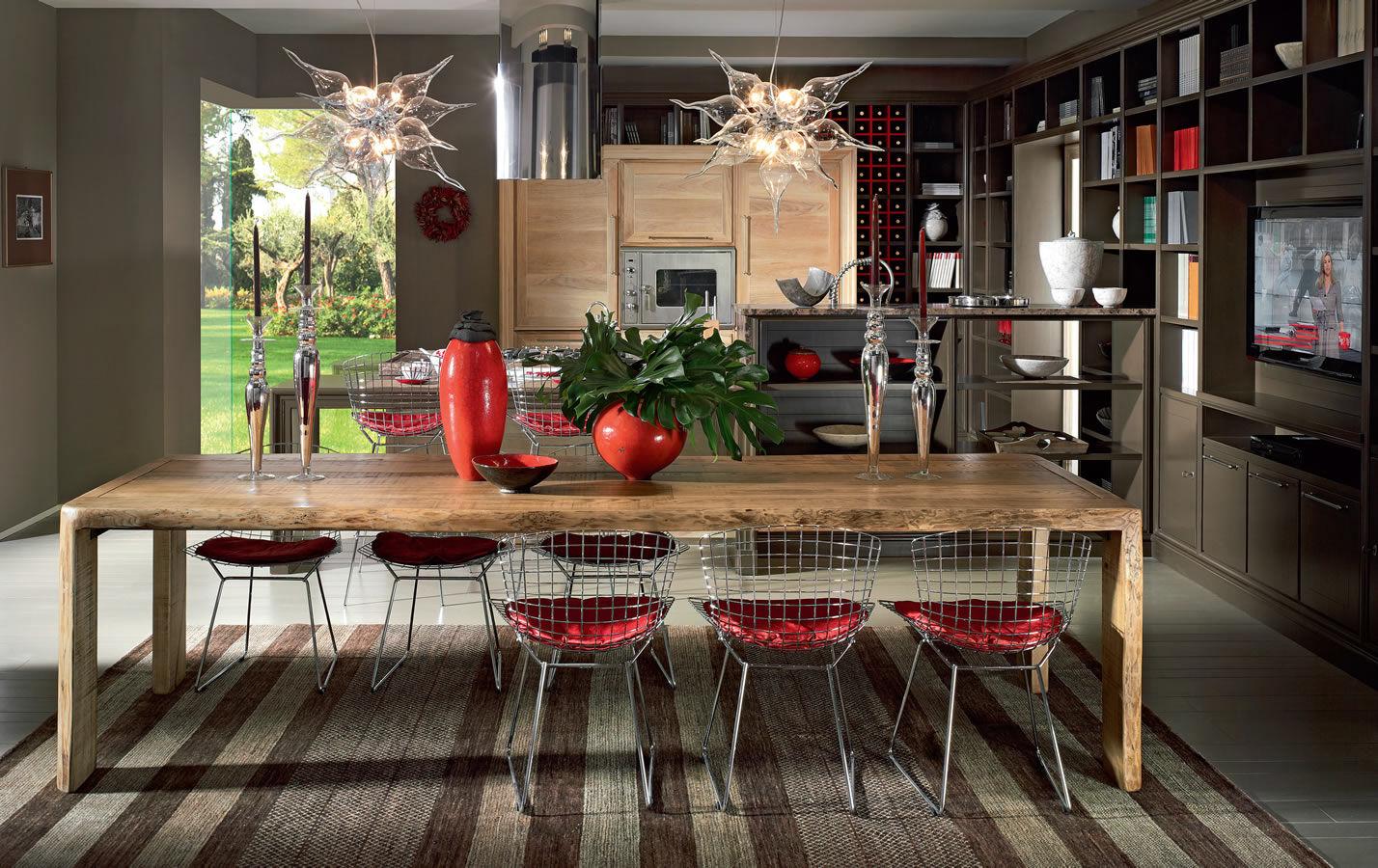 Moderne Küche / Holz / Holzfurnier / Massivholz EVITA Lu0027OTTOCENTO ...