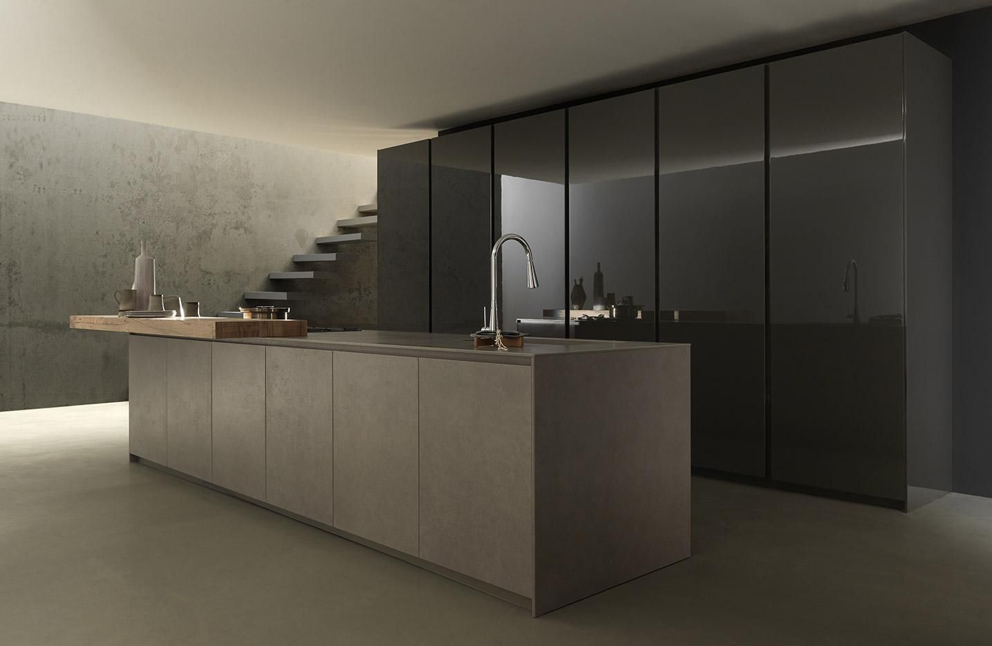 Moderne küchen mit insel holz  Moderne Küche / Holz / Kochinsel / matt - BLADE - MODULNOVA