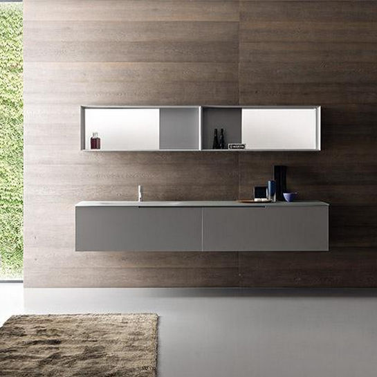 Hängend-Waschtischunterschrank / Holz / modern / mit integriertem ... | {Waschtischunterschrank holz hängend 24}