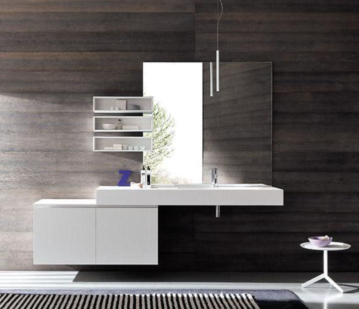 Waschtischunterschrank holz hängend  Hängend-Waschtischunterschrank / Holz / modern / lackiert - LIGHT ...