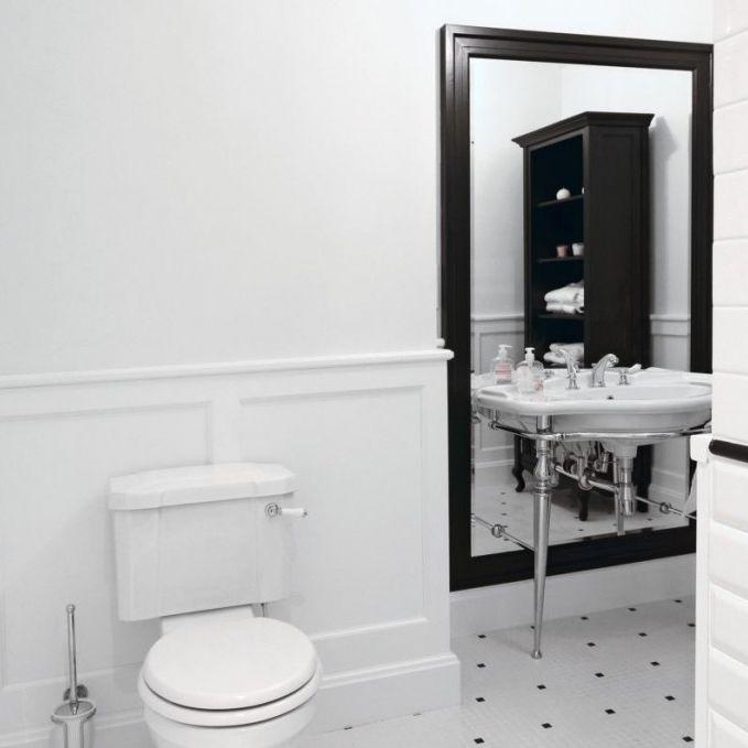 Klassischer Badezimmer-Schrank / Holz / wandmontiert / mit Spiegel ...