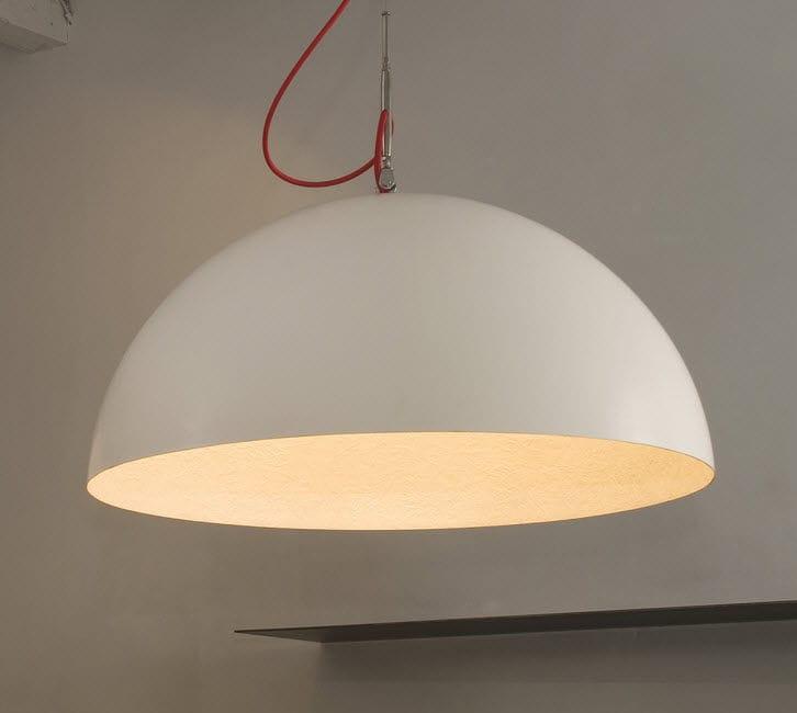 Hängelampe / modern / für Innenbereich / aus Stahl - LUNA : MEZZA ...