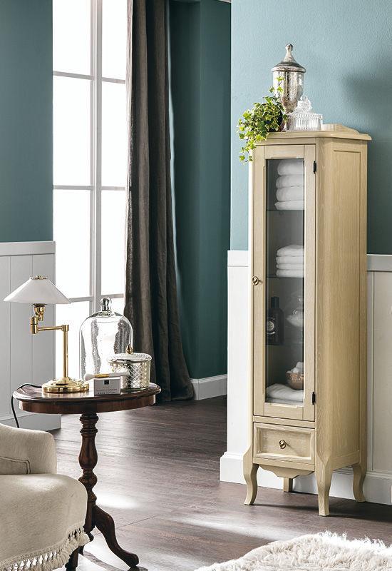 ... Säulenschrank Für Badezimmer / Klassisch REBECCA: H 150 EBAN
