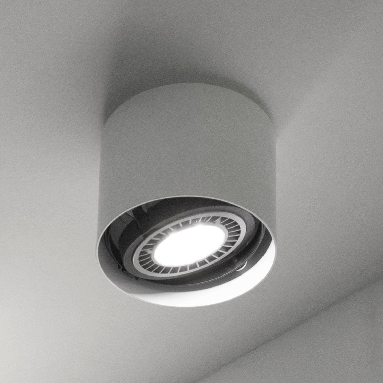 Trendig Deckenstrahler / Innenbereich / LED / rund - EYE cod.2876/1/L/1/BI  KC02