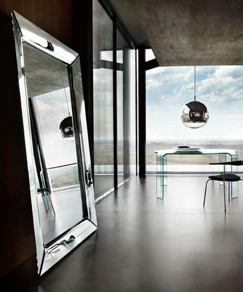 Wandmontierter Spiegel / Wohnzimmer / modern / rechteckig - CAADRE ...