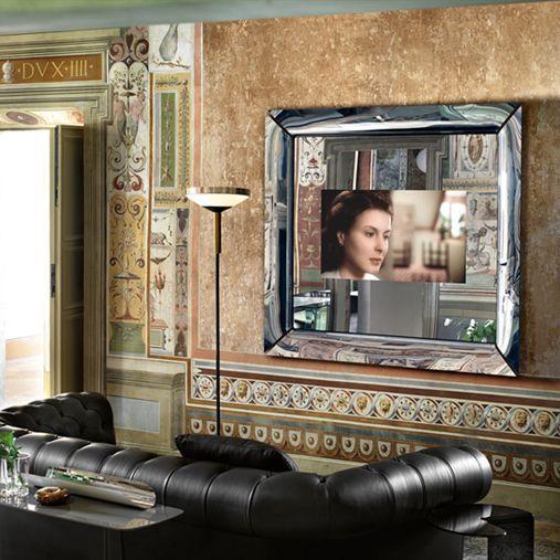 Wandmontierter TV-Spiegel / Wohnzimmer / modern / rechteckig ...