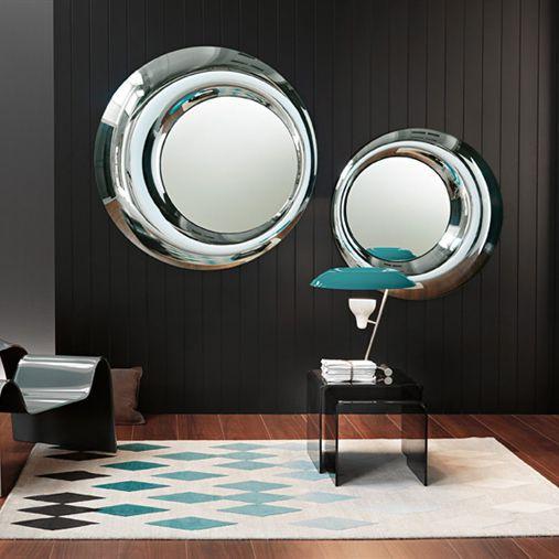 Wandmontierter Spiegel Modern Rund Wohnzimmer ROSY By Massimiliano Doriana Fuksas FIAM ITALIA