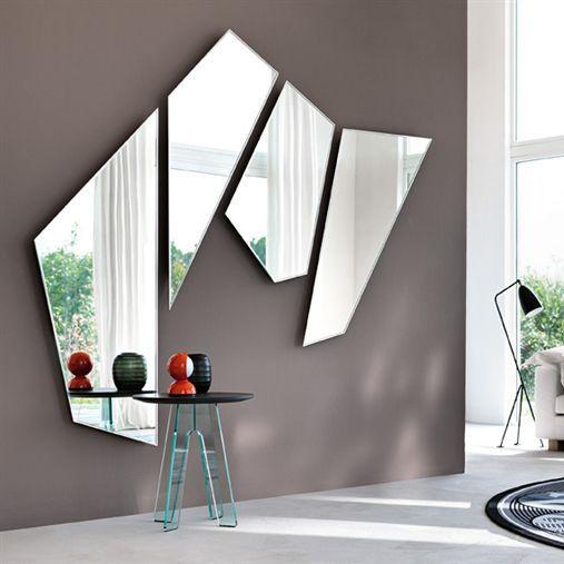 Wandmontierter Spiegel Modern Wohnzimmer Mirage By Daniel Libeskind
