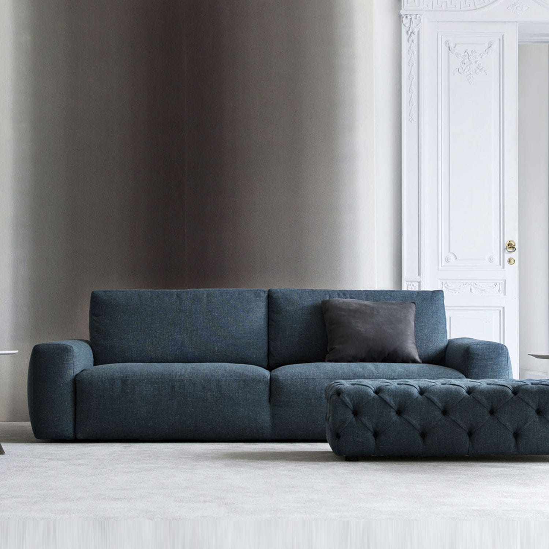 Modernes Sofa / Stoff / 2 Plätze / blau - Johnny - BERTO SALOTTI ...