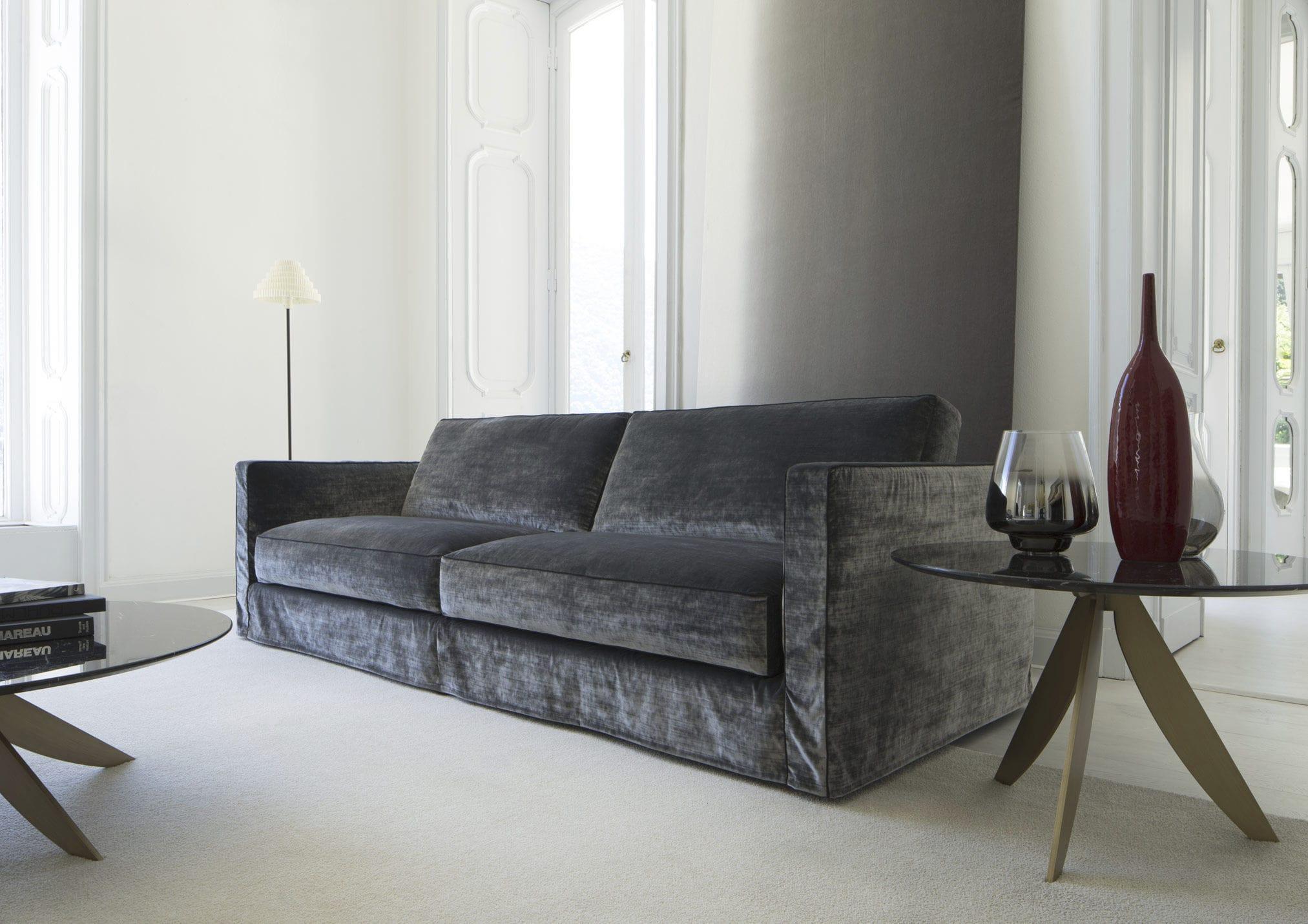 Samt sofa  Modernes Sofa / Samt / Leinen / 4 Plätze - DANTON - BERTO SALOTTI