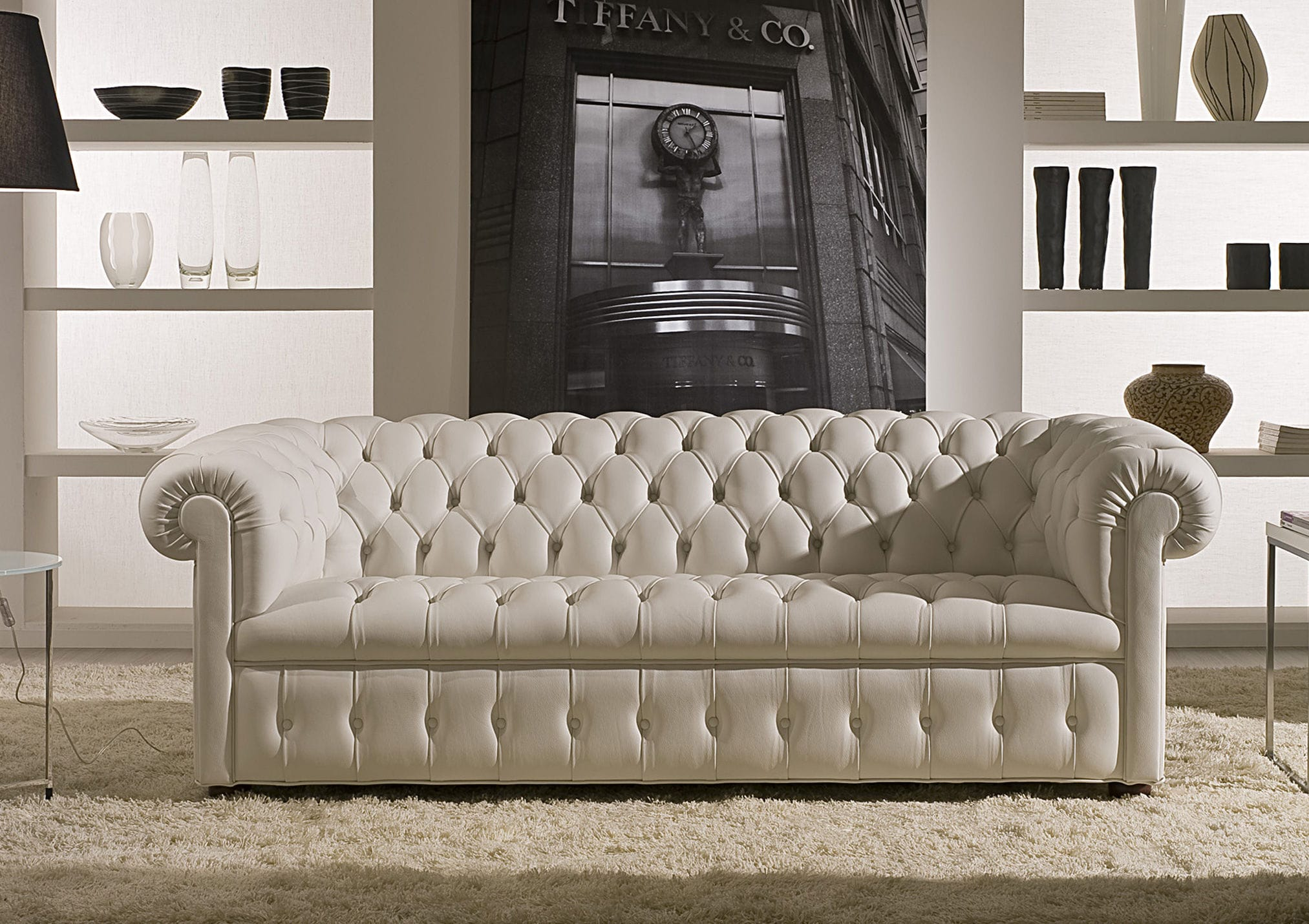 Chesterfield sofa stoff  Chesterfield-Sofa / Stoff / Leder / 3 Plätze - DEVON - BERTO SALOTTI