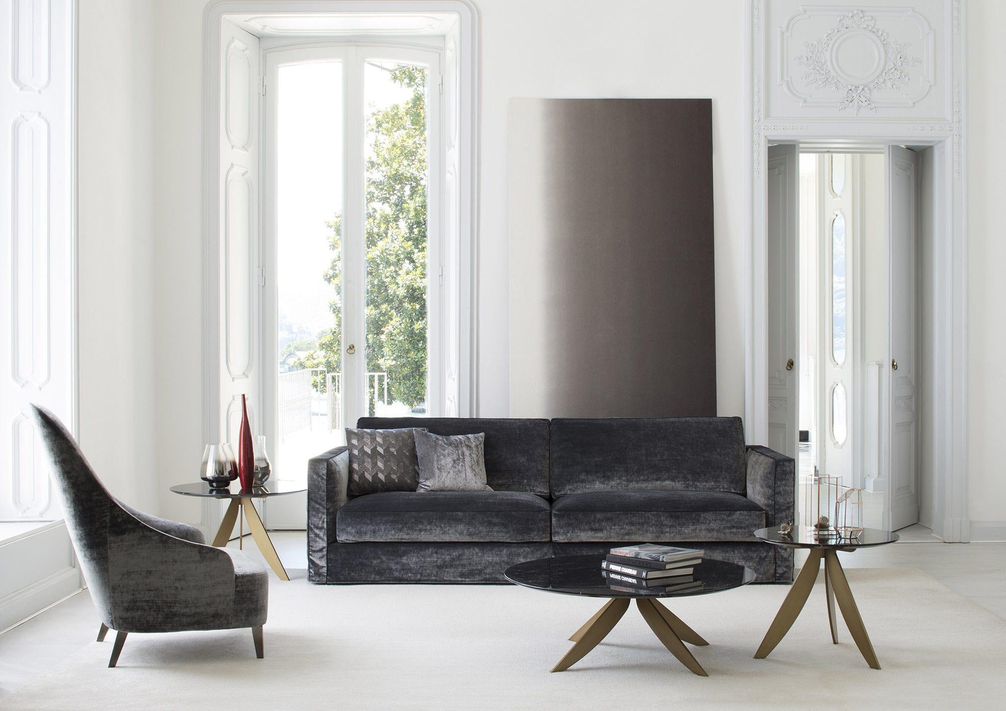 Moderner Sessel / Stoff / Leder / Hochlehner - VANESSA - BERTO SALOTTI