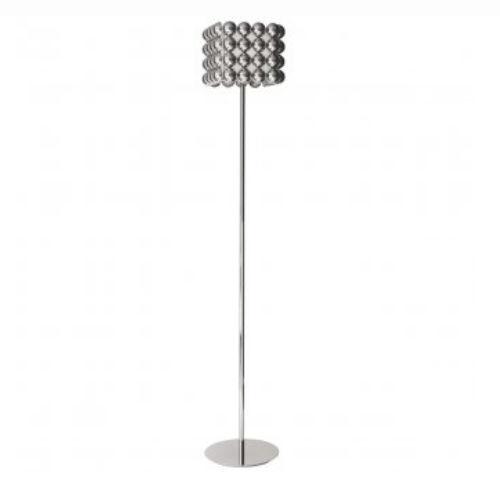 Stehleuchte / modern / verchromtes Metall / Stoff - BUBBLE : 01941T ...