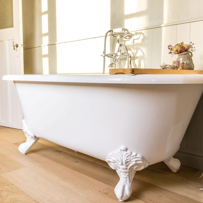 Badewanne Auf Fussen Oval Verbundwerkstoff Stein Lon Ba