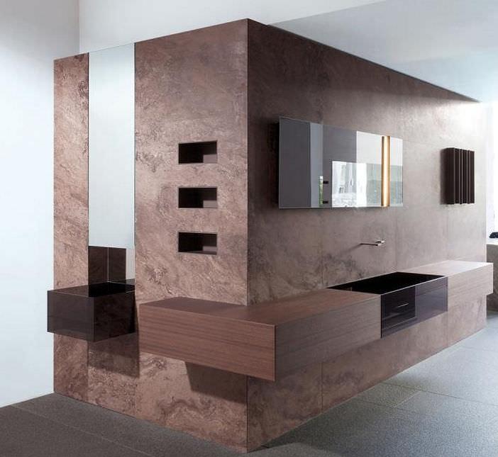 Modernes Badezimmer / Aus Teakholz / Stein - Cuma By Silvano