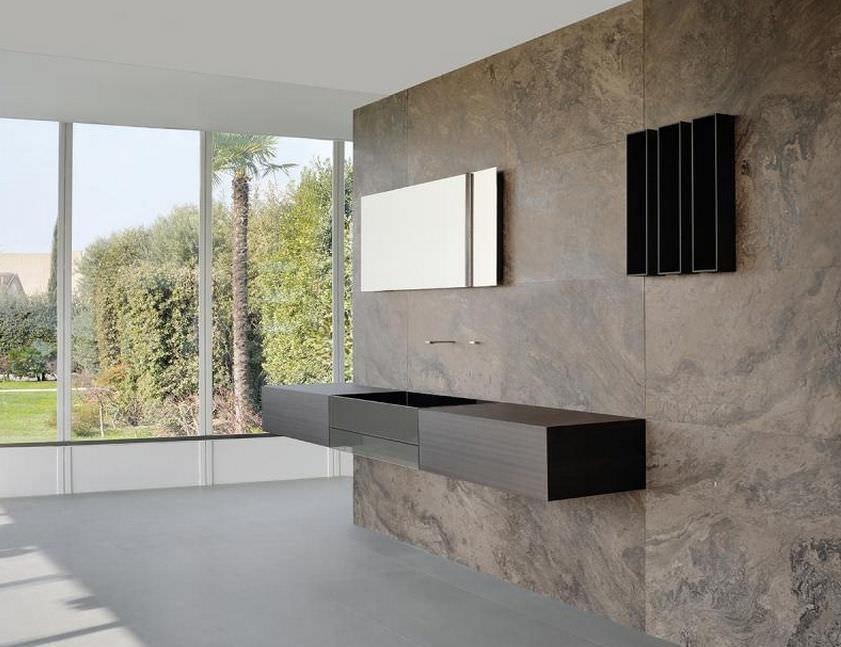 modernes badezimmer / aus teakholz / stein - cuma by silvano ... - Badezimmer Stein