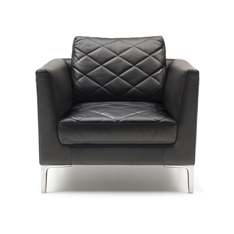 Moderner Sessel Leder Schwarz Weiß Ds 48 By Gordon