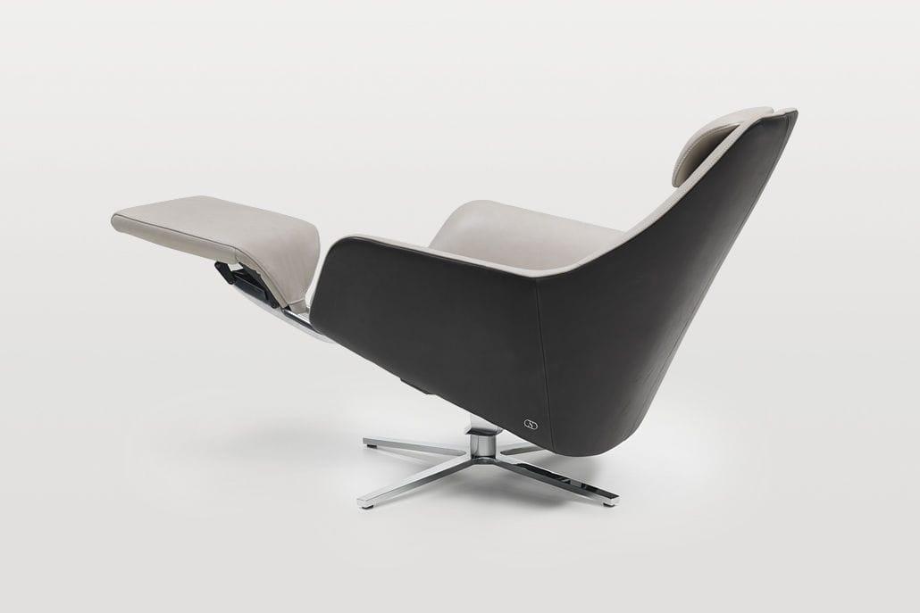 Moderner Sessel / Leder / schrägstellbar / mit Fußstütze - DS-277 ...