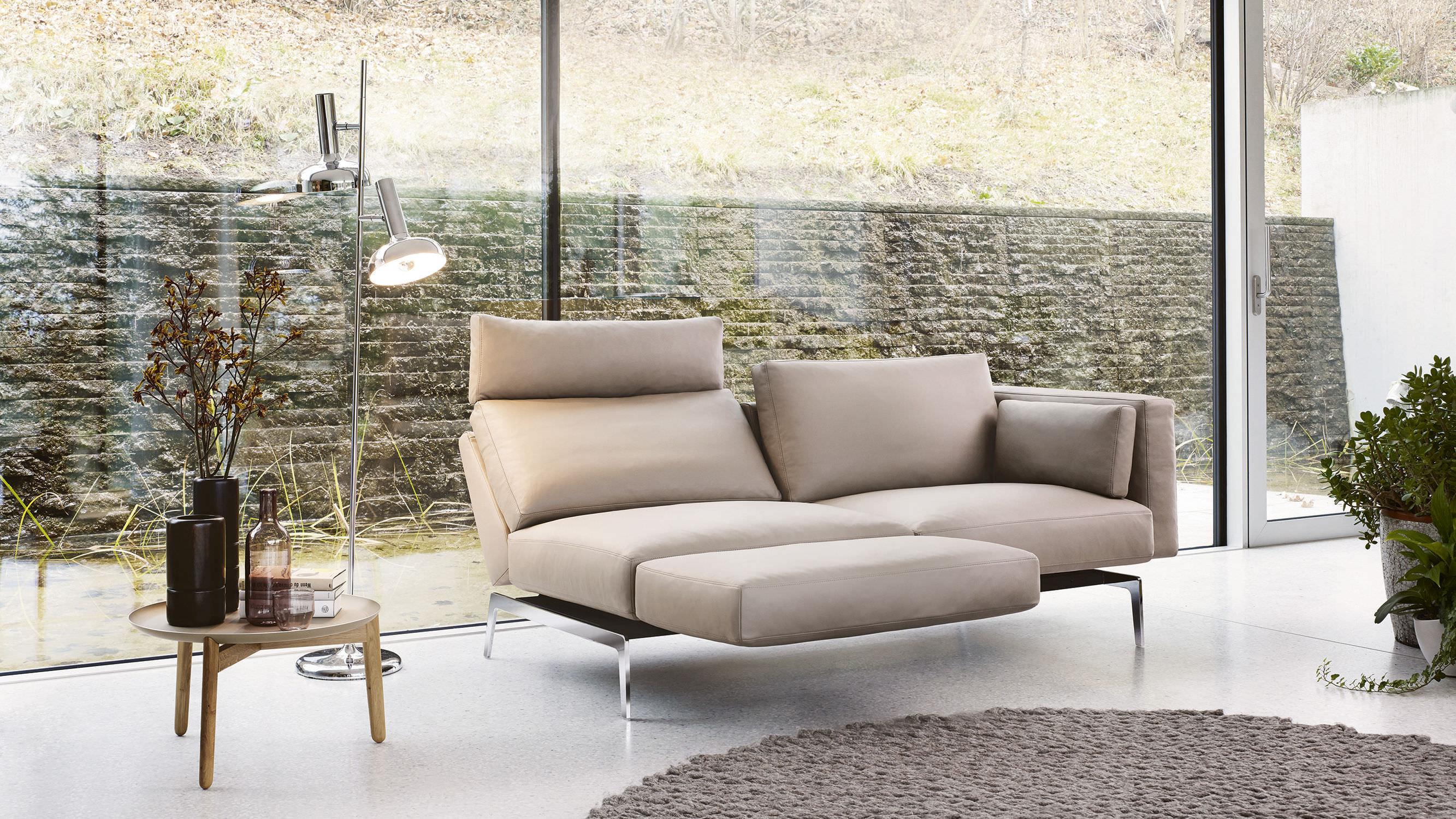 Modernes Sofa modernes sofa leder stoff 2 plätze 1424 smart by werner