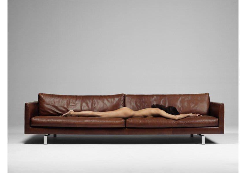 Sofa modern braun  Modernes Sofa / Leder / 4 Plätze / braun - AXEL by Gijs Papavoine ...