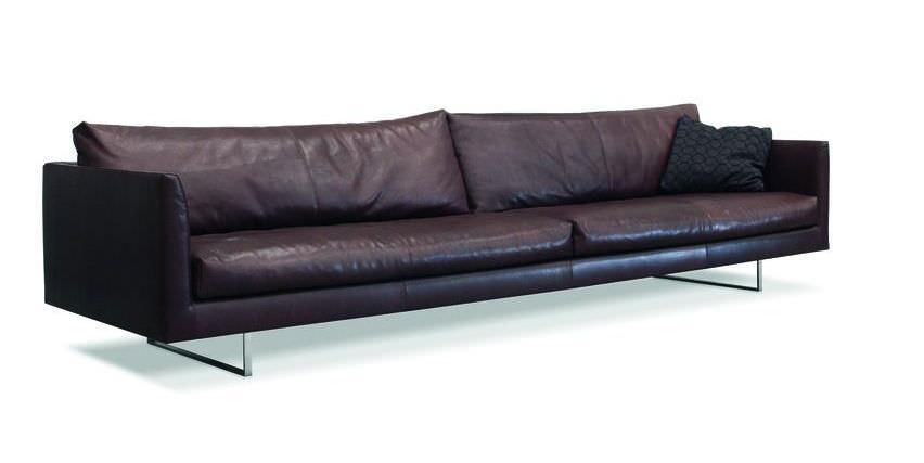 Modernes Ledersofa modernes sofa leder 4 plätze braun axel by gijs papavoine