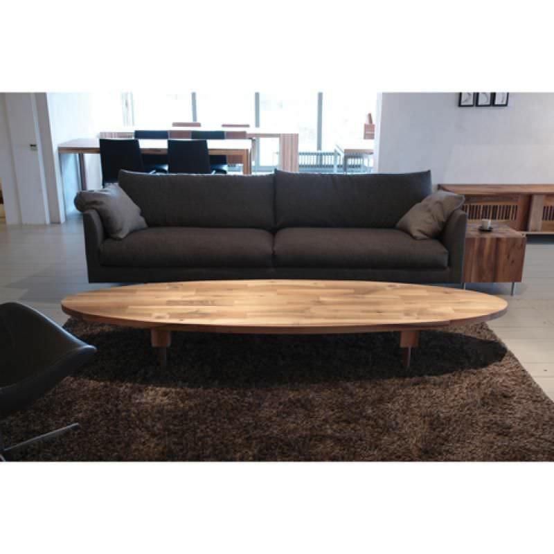 Sofa rund oval  Moderner Couchtisch / Holz / oval / rund - JELLE - Pilat & Pilat