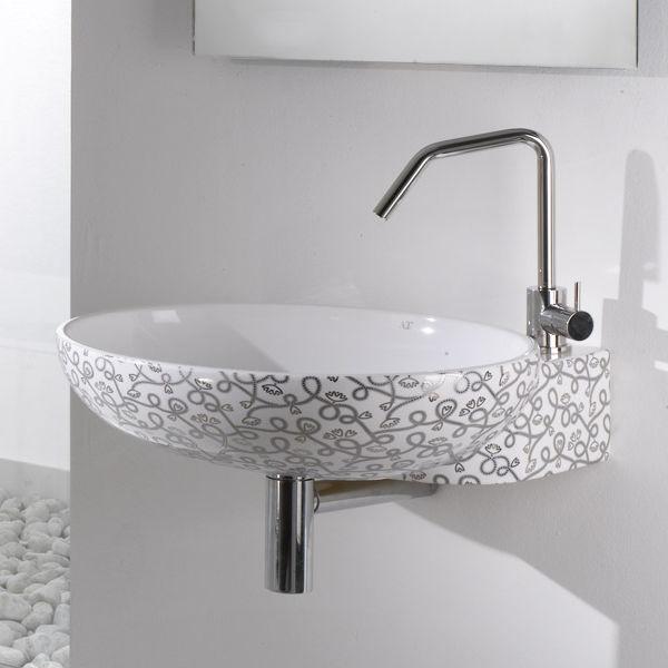 Wand Waschbecken Oval Keramik Modern Thin Cr A E T Italia