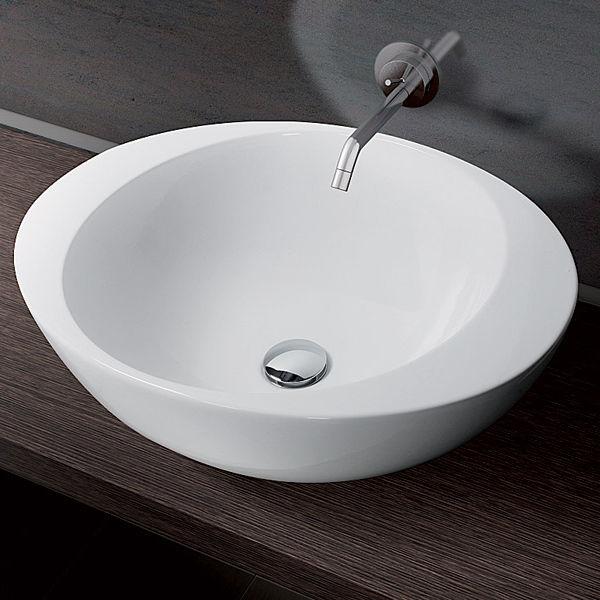 Aufsatzwaschbecken / rund / aus Keramik / modern - ACCENT - A. e T ... | {Waschbecken rund 18}
