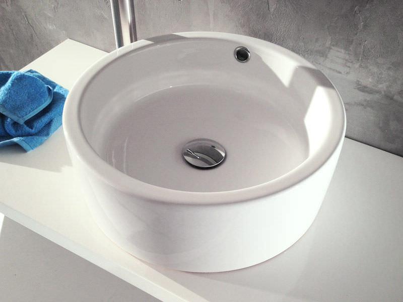 Waschbecken rund aufsatz  Aufsatzwaschbecken / rund / Keramik / modern - BOLD: RING - A. e T ...