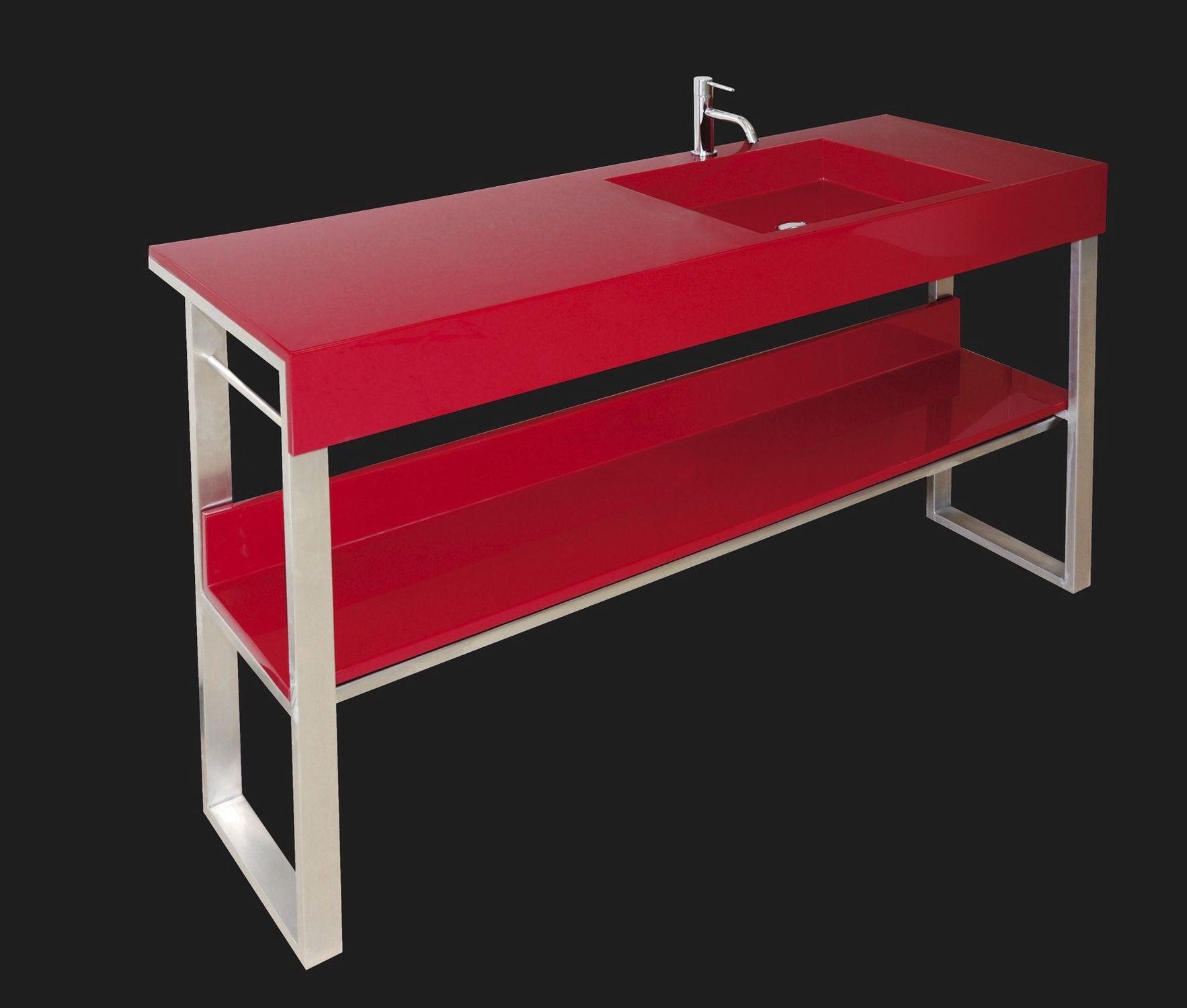 Waschtischunterschrank freistehend  Doppelter Waschtischunterschrank / freistehend / Edelstahl ...