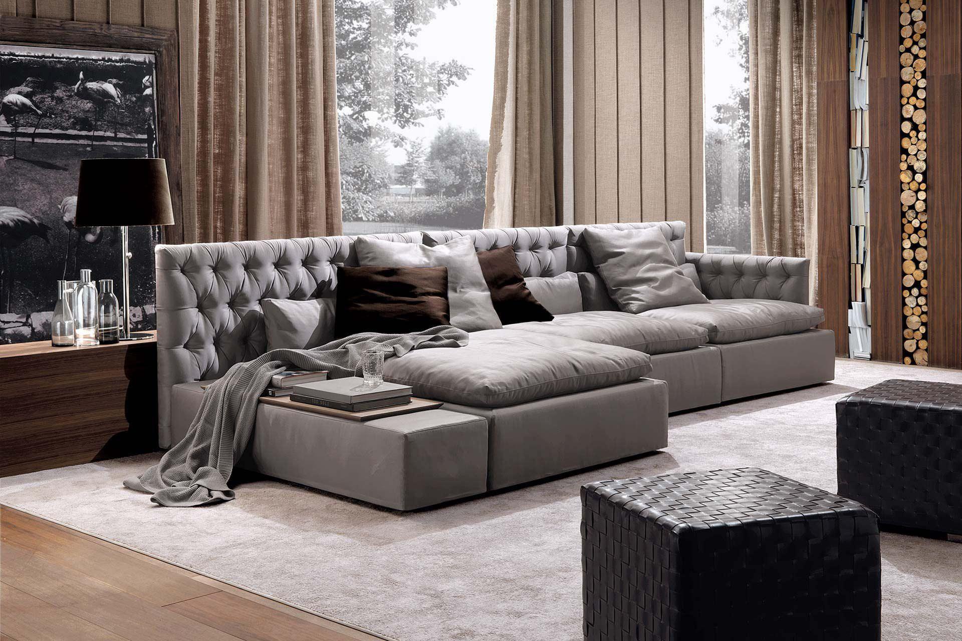 Sofa modern stoff  Modulierbares Sofa / modern / Stoff / Leder - DOMINIO CAPITONNÉ ...
