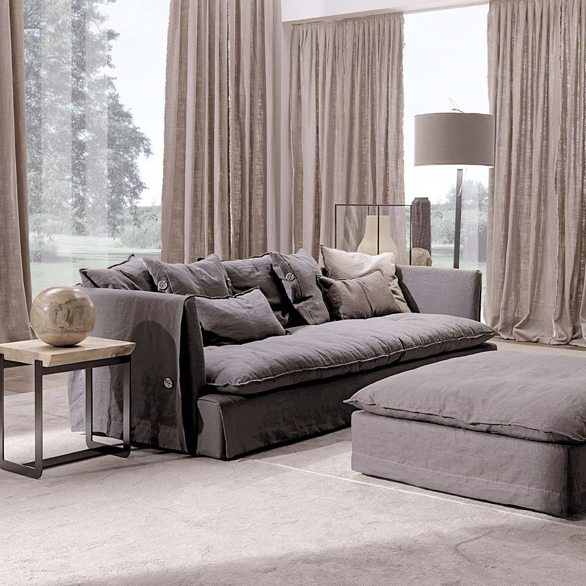 Sofa modern stoff  Kompaktes Sofa / modern / Stoff / Leder - KIMONO JUNIOR - Frigerio ...