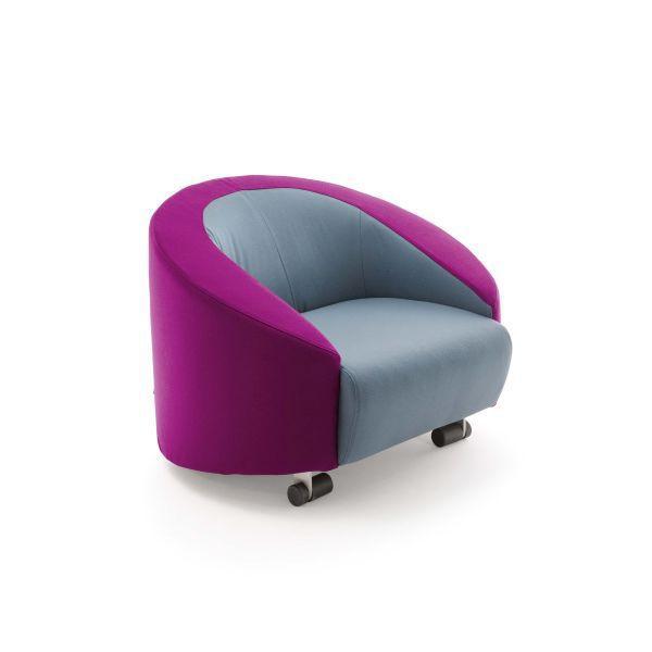 moderner sessel / stoff / mit rollen / von joe colombo - cart by, Hause deko