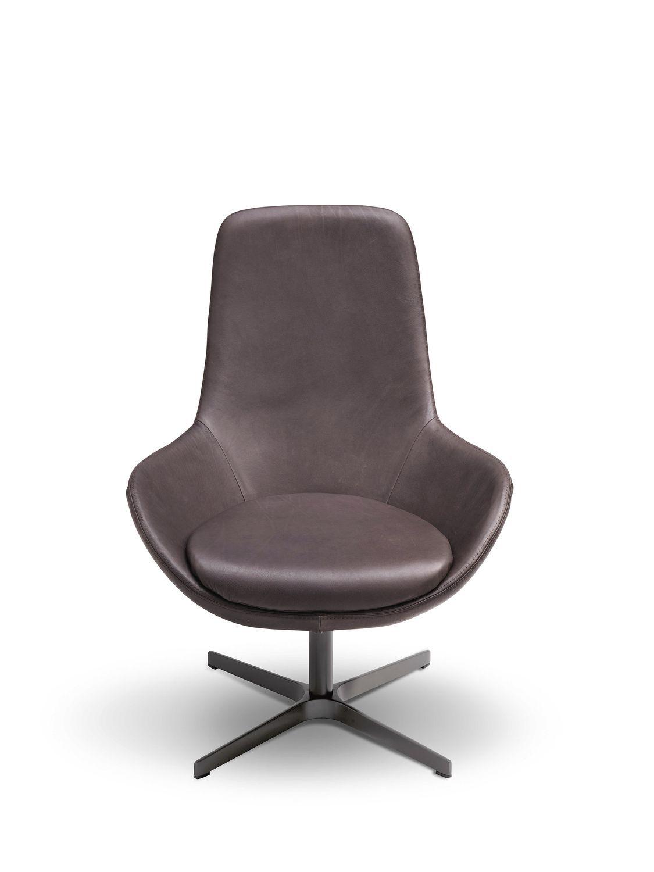 Sessel modern  Drehbarer Sessel / modern / Metall / Stoff - LINEAR by Edi & Paolo ...