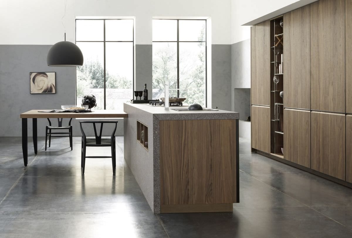 Moderne Küche / Stein / Massivholz / Holz   M_26 PROFILI