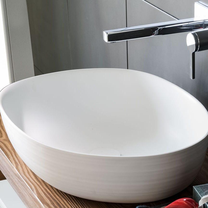 Aufsatzwaschbecken oval keramik modern handmade d n by