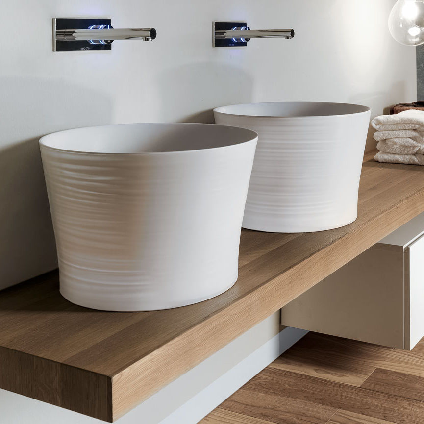 Aufsatzwaschbecken oval keramik modern handmade d5p by