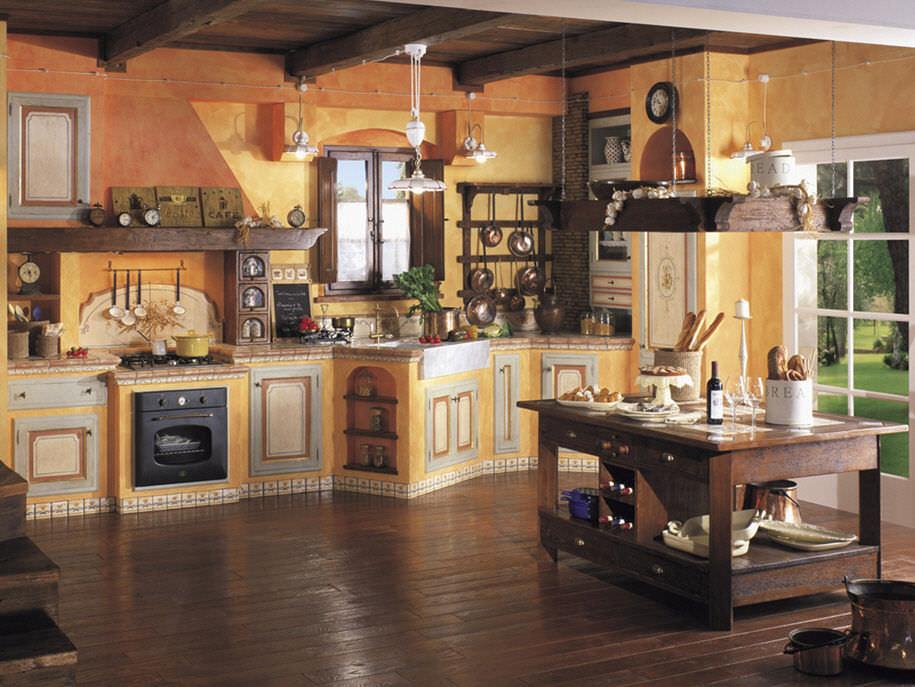 Küche massivholz  Stil-Küche / Massivholz / Holz - LA MURATURA - Mobili di Castello
