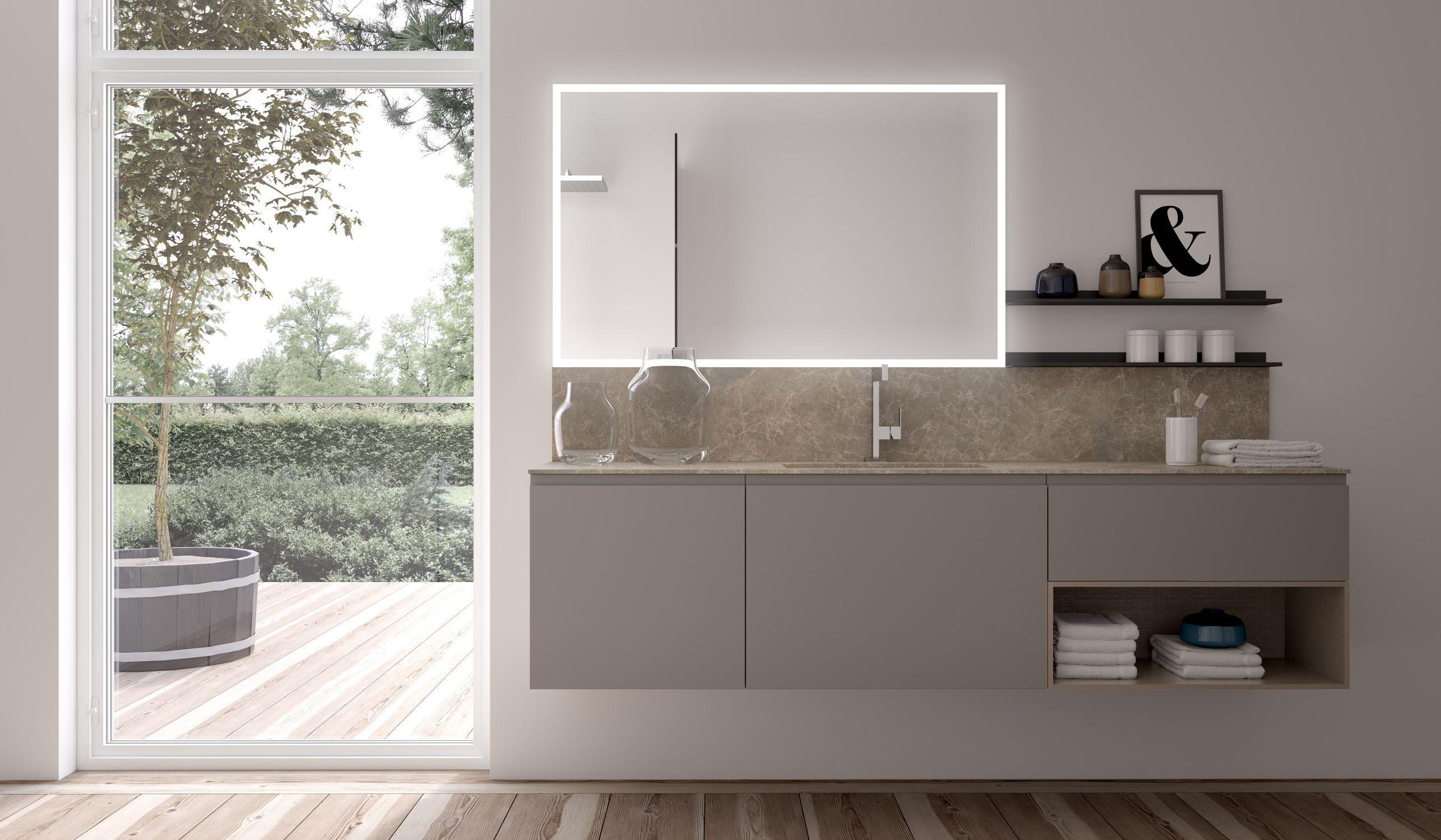 Hängend-Waschtischunterschrank / Holz / modern / Schubladen - GOLA ... | {Waschtischunterschrank modern 35}
