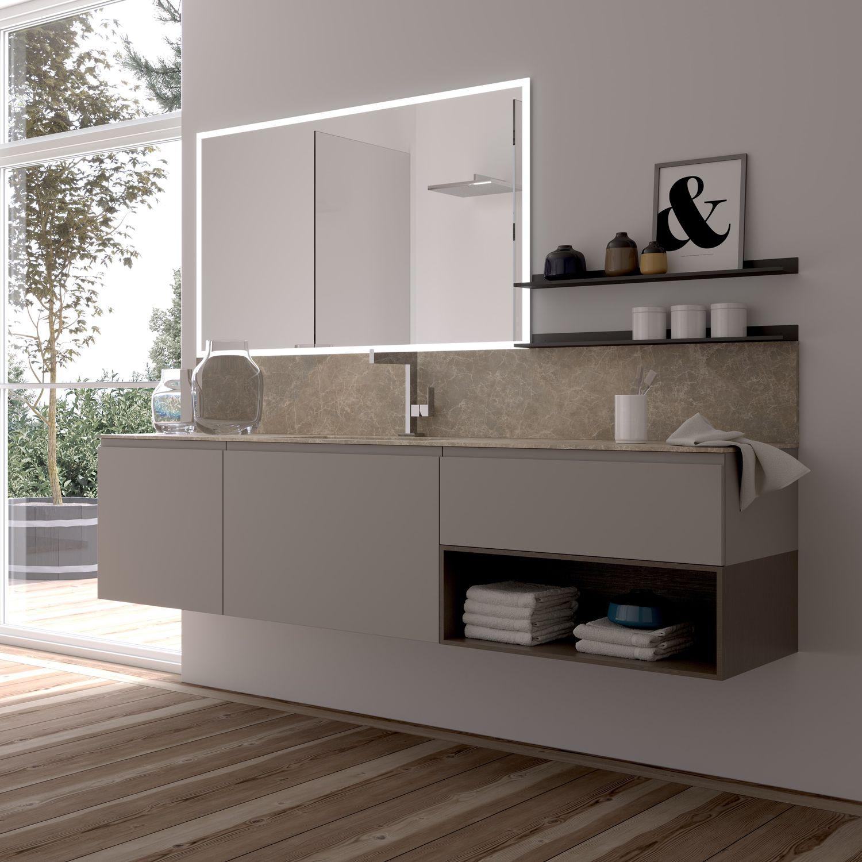 Hängend-Waschtischunterschrank / Holz / modern / Schubladen - GOLA ... | {Waschtischunterschrank holz 77}