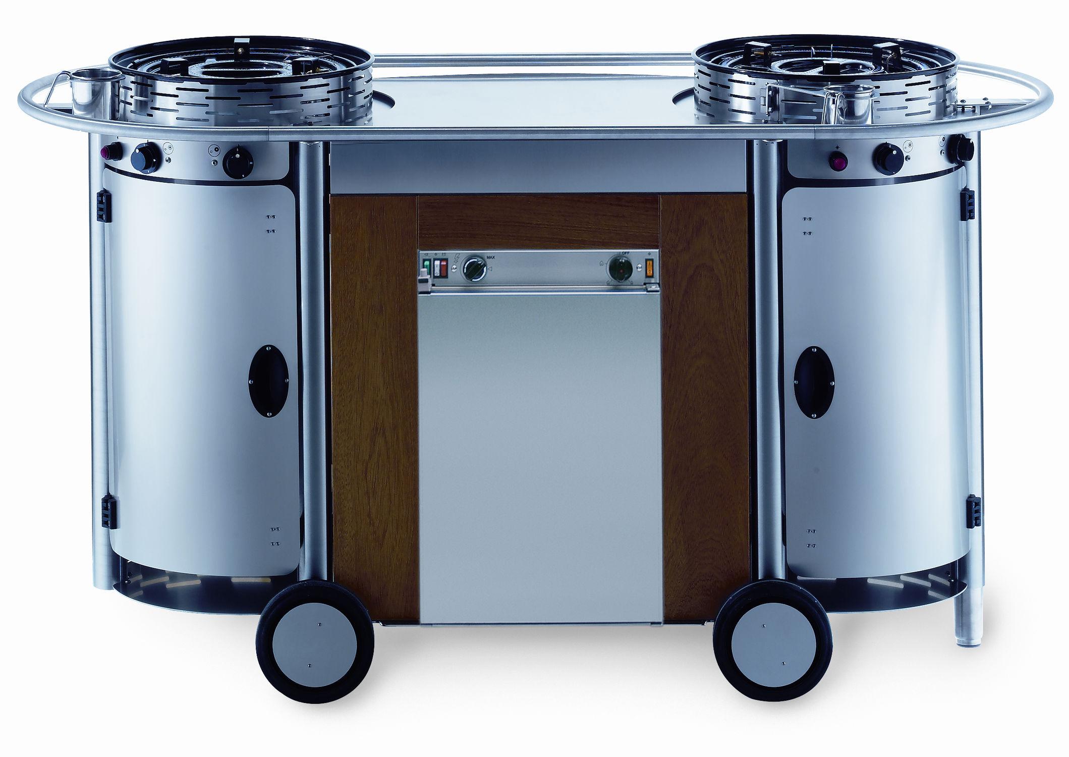 Edelstahl-Küche / mobil / Außenbereich / mit integriertem Griff ...
